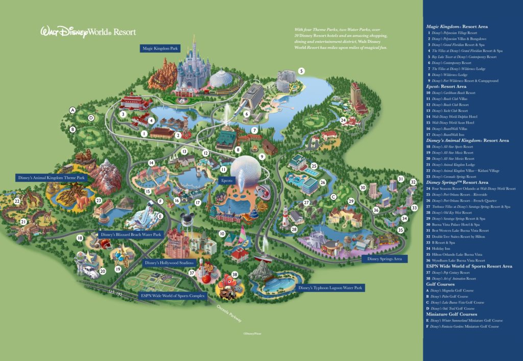 Mapa de Disney World Orlando