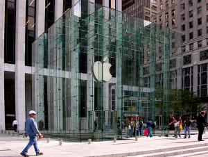 La visitadísima Apple Store de la Quinta Avenida.