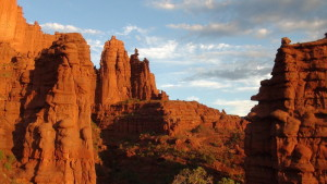 Fisher_Towers_at_sunset