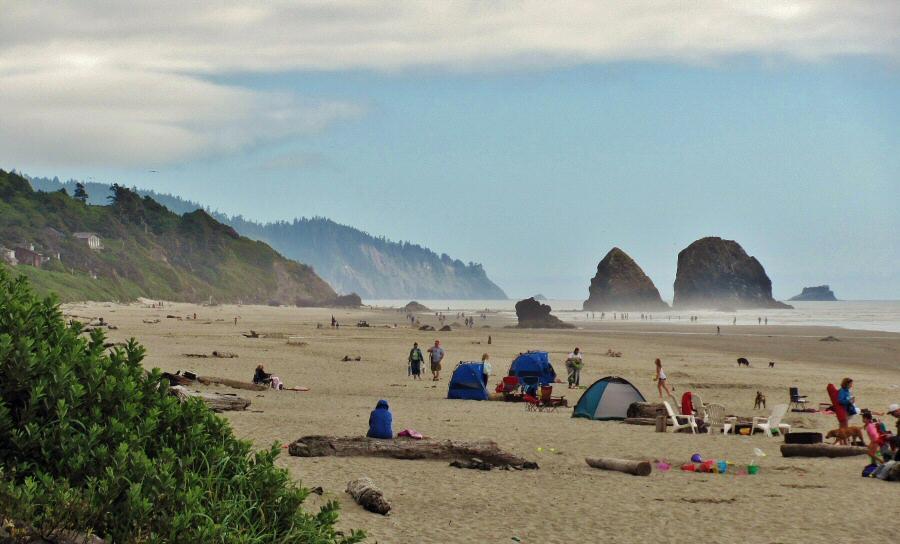 """La playa de """"Los Goonies"""", en Oregon."""
