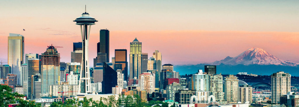Skyline de Seattle.